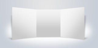 Stand de publicité blanc de panneaux Images stock