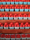 Stand de tomate Photos stock