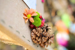 Flower and Cone Decoration Royalty Free Stock Images