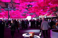 The stand of Deutsche Telekom Stock Images