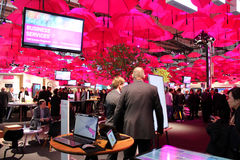 The stand of Deutsche Telekom Stock Photography