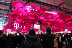 The stand of Deutsche Telekom Royalty Free Stock Photography