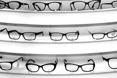 Stand with diopter glasses Royalty Free Stock Photos