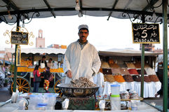 Stand du marché à Marrakech Image libre de droits