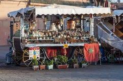 Stand du marché à Marrakech Images libres de droits