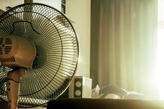 Free Stand Electronic Fan In Room In Morning Royalty Free Stock Photos - 102489798