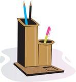 Stand en bois de crayon lecteur Photo stock