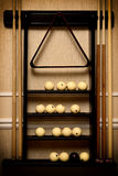 Stand with equipment for russian billiards Royalty Free Stock Images