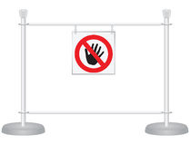 Stand exhibition barrier Royalty Free Stock Photo