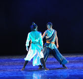Stand facing each other-The dance drama The legend of the Condor Heroes Royalty Free Stock Photos