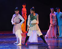 Stand facing each other-The dance drama The legend of the Condor Heroes Stock Images