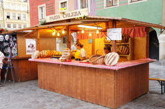Stand at a fair in Poznan Royalty Free Stock Image