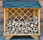 Stand for firewood Royalty Free Stock Images