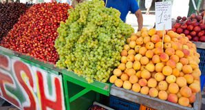 Stand with fruit in Athens Royalty Free Stock Images
