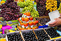 Stand with fruits Stock Photography