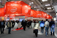 Stand of Fujitsu Intel Royalty Free Stock Photos