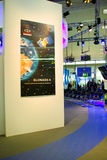 Stand of the Glonass-K in CEBIT computer expo Royalty Free Stock Photo