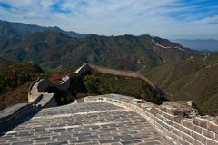Stand on Great Wall  Royalty Free Stock Photography