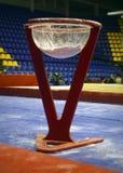 Stand gymnastique avec du talc photo libre de droits