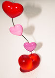Stand heart  white background Valentine`s day Stock Images