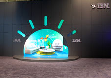 The stand of IBM Stock Image