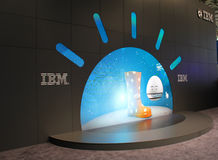 The stand of IBM Royalty Free Stock Photo
