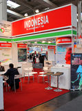 The stand of Indonesia Stock Photography