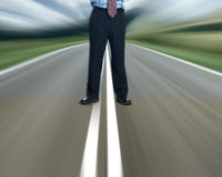 Stand on information highway Stock Photography