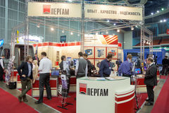Stand of JSC Pergam Engineering at ExpoCoating 2012 Stock Photography