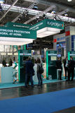 Stand of the Kaspersky Lab in CEBIT computer expo. HANNOVER, GERMANY - MARCH 10, 2012: stand of the Kaspersky Lab in CEBIT computer expo, Hannover, Germany Stock Photo