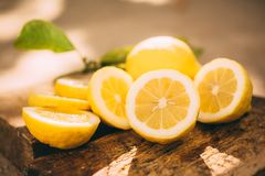 Stand lemonade, slice lemon Royalty Free Stock Image