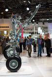 Stand by Liebherr and samples of aircraft landing gear. Stock Photography