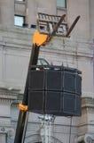 Stand lourd de haut-parleur Photographie stock libre de droits
