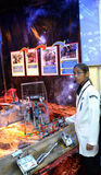 The stand of Malaysia at the robot Olympiad in Sochi Royalty Free Stock Photography