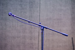 Stand and microphone on a festival stage royalty free stock photo