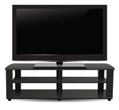 Stand with modern plasma. TV. Vector illustration Royalty Free Stock Photography