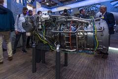 The stand of MTU Aero Engines AG Royalty Free Stock Images