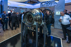 The stand of MTU Aero Engines AG Royalty Free Stock Photo
