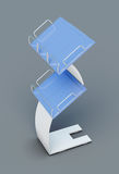 Stand for newspapers or magazines  on grey background. 3d render Royalty Free Stock Photos