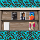 Stand online magazines, vector Stock Images