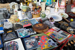 Stand on the open air flea market Stock Photography