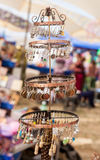 Stand with ornaments and trinkets Royalty Free Stock Photo