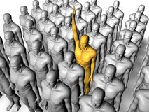 Stand out. Image of  Leader and group people Royalty Free Stock Images