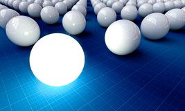 Stand out. The set of balls on a light background, one stands out Royalty Free Stock Images