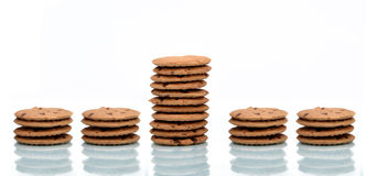 Stand out Concept using Chocolate Chip Cookies royalty free stock photos