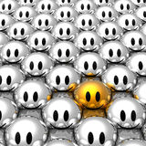 Stand out from the crowd Stock Photo
