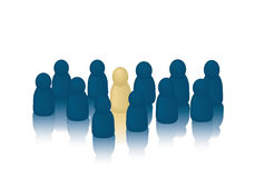 Stand Out from the Crowd Royalty Free Stock Image