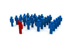 Stand Out From The Crowd. In 3d Royalty Free Stock Images