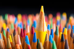 Stand out from the Crowd. Color pencils representing the concept of Standing out from the crowd Royalty Free Stock Photo