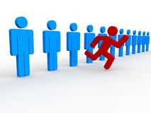 Stand out from the crowd. Concept  3D style Royalty Free Stock Photo